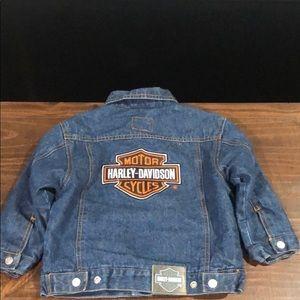 Harley Davidson kids Quilted Jean jacket size 4T
